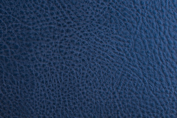 Old leatherette. Blue artificial leather. Close-up. Background. Texture.
