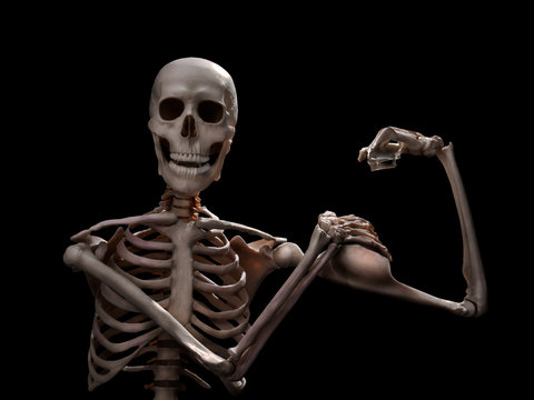 funny muscle skeleton after workout