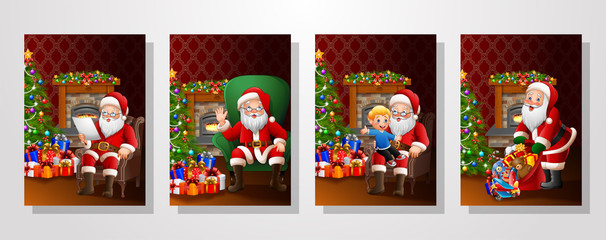 Santa Claus in the living room collections set