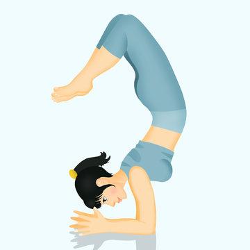 illustration of scorpion pose