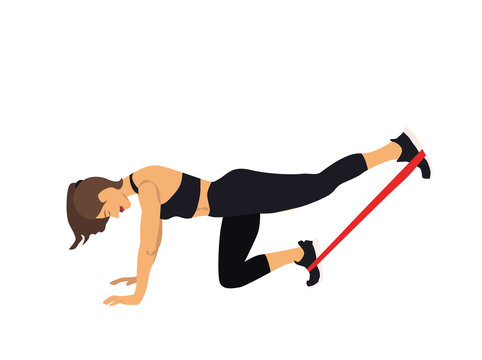 exercise with fitness elastic band