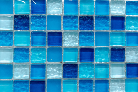 Background tiles in a modern design glass texture of color mosaic pattern