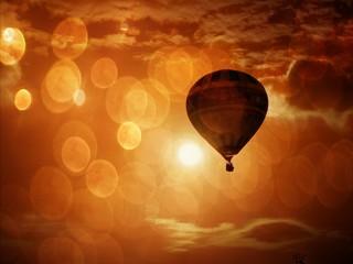 Fototapeten Ballon Stunning view of hot air balloon