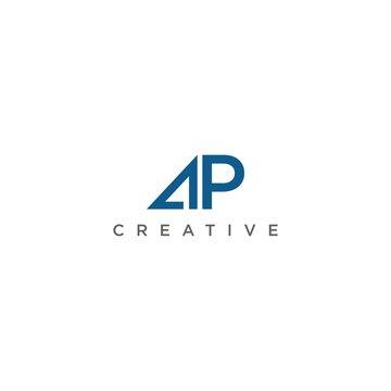 letter AP  logo design vector icon template