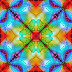 Abstract kaleidoscopic seamless colorful pattern background texture
