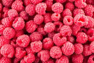Raspberry. Fresh organic berries. Background from fresh raspberrys. Fototapete