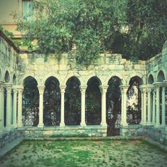 Wall Mural - Columns of Chiostro di Sant'Andrea monastery