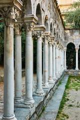 Wall Mural - Columns of Chiostro di Sant'Andrea monastery in Genoa
