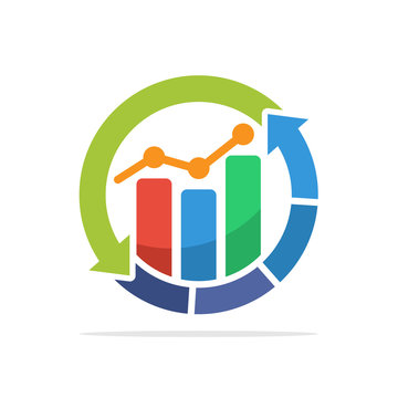 Illustration icon with the concept of business process management