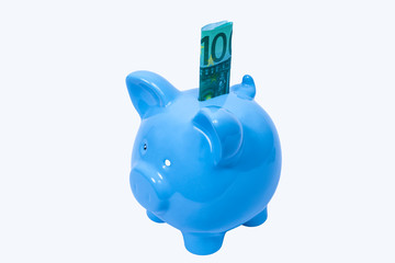 100 Euro im Sparschwein