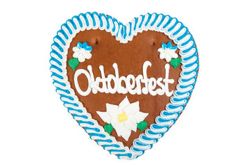 Oktoberfest Lebkuchenherz Freisteller