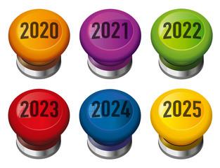 Présentation d'une solution pour l'année de 2020 avec un buzzer qui symbolise une réponse apporté à un problème