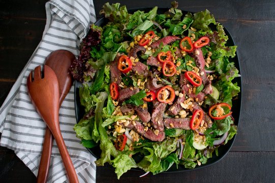 Thai Beef Salad with Ginger Dressing