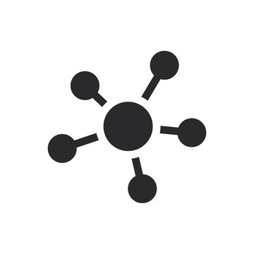 Centralized structure vector icon in modern style for web site and mobile app
