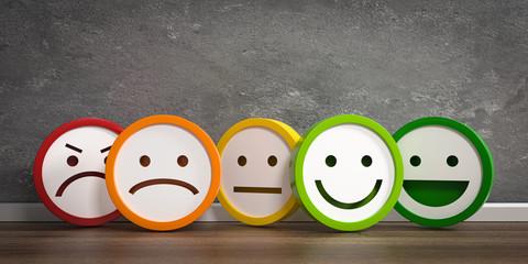 3D Illustration bunte Emotionen und Gefühle