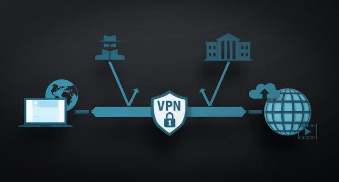 3D Illustration VPN
