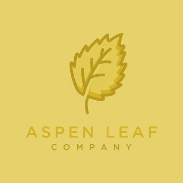 vector logo illustration of aspen leaves.