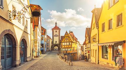 Plönlein mit Siebersturm in Rothenburg ob der Tauber  Deutschland
