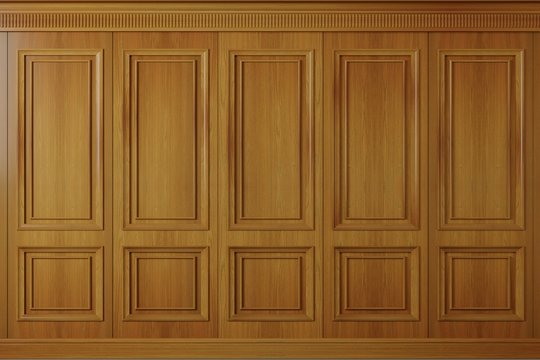 Classic wall vintage oak wood panels