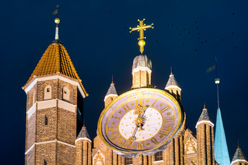 Fototapete - Gdansk facade and clock