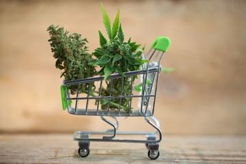 supermarket trolley marijuana medical cannabis  cbd