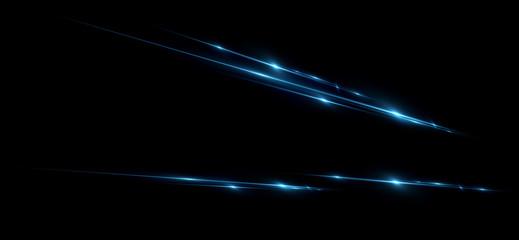 Keuken foto achterwand Abstract wave Beautiful light flares. Glowing streaks dark background. Luminous abstract sparkling lined background. .Light effect wallpaper. Elegant style. Сoncert light