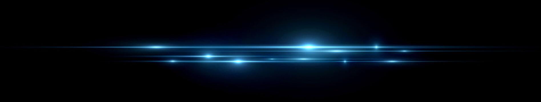 Beautiful light flares. Glowing streaks dark background. Luminous abstract sparkling lined background. .Light effect wallpaper. Elegant style.  Сoncert light