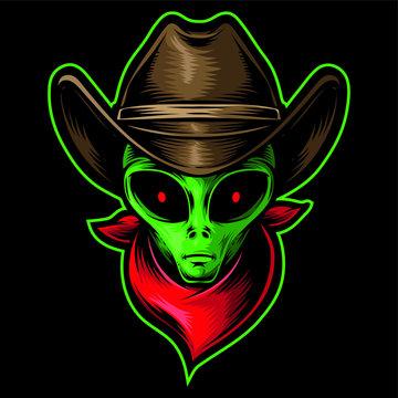 alien head cowboy