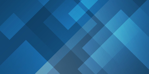 abstract dark blue background square shapes in transparent design Fotomurales