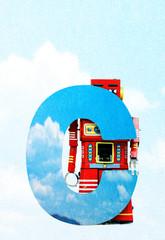 Fototapete - big letter C