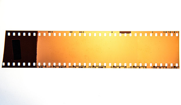 (35 mm.) film frame.With white space.