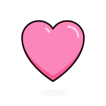 Like and Love cartoon icon. Heart for Live stream, chat, likes. Vector illustration