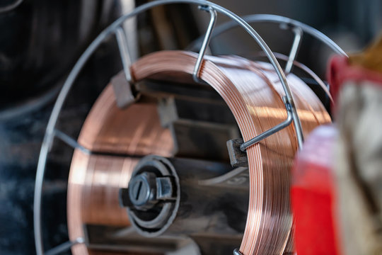 coil of welding wire for automatic welding in shielding gases.