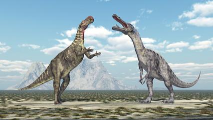 Altirhinus und Suchomimus