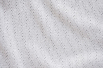 Aluminium Prints Fabric White fabric sport clothing football jersey with air mesh texture background