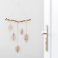 Decorative macrame on the wall