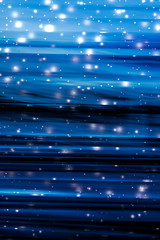 Holiday brand abstract background, blue digital design with glowing snow