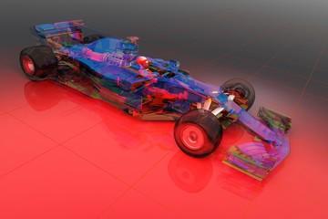 Fototapete - Transparent model cars.
