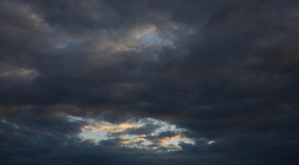 A patch of blue sky shows through a mass of Stratocumulus during the Cloud Appreciation Society's gathering in Lundy