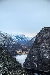 vue aérienne des fjords norvégiens