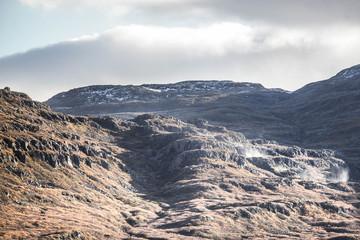 Terre volcanique en Islande