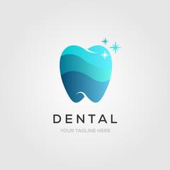 dental or dentist logo symbol, clean tooth symbol