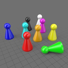 Board game pawns set