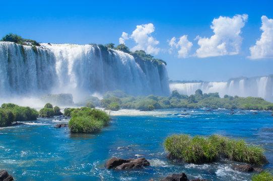 Foz do Iguazu. Is a touristic town and waterfalls at Brazil.