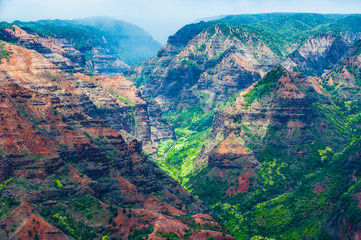 USA, Hawaii, Kauai, Overlook over the Waimea canyon