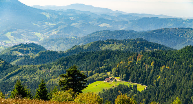 Mountains in Blackforest in Germany