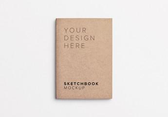 Small Sketchbook Cover Mockup