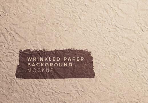 Wrinkled Paper Mockup