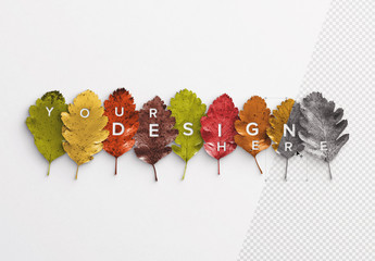 Autumn Leaves Art Kit Mockup
