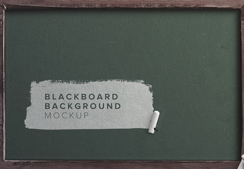 Blackboard with Chalk Mockup